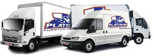Platinum Furniture Removals trucks and vans.