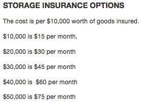 Storage Insurance Options